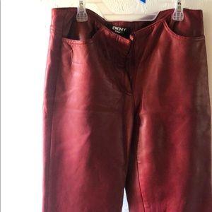 100% leather DKNY pants size 4